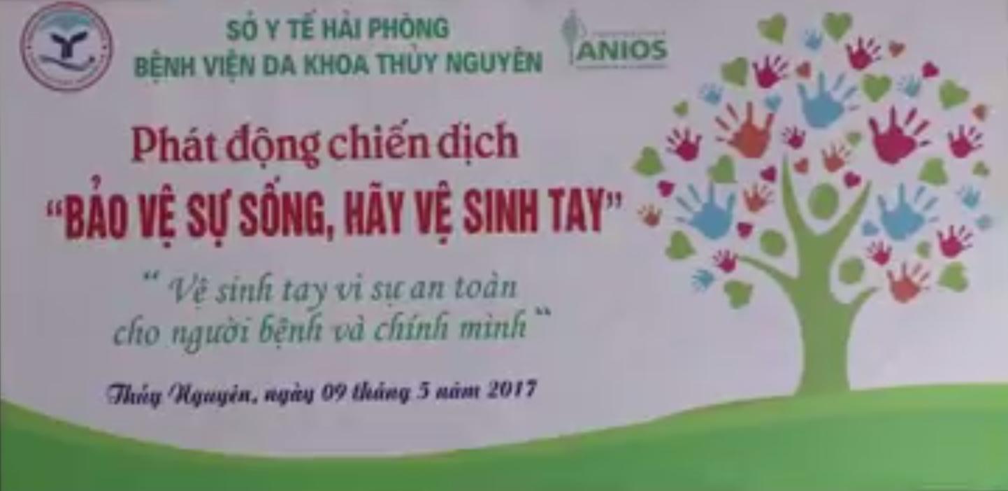 """Bệnh viện Đa khoa Thủy Nguyên phát động chiến dịch """"Bảo vệ sự sống – Hãy vệ sinh tay"""""""